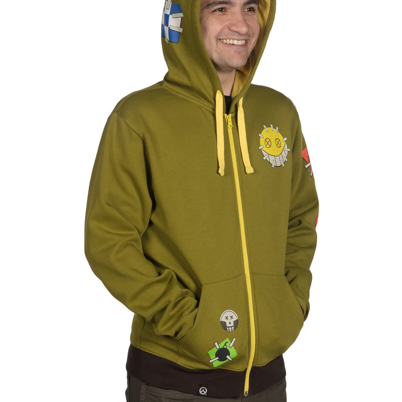 View 5 of Overwatch Ultimate Junkrat Zip-Up Hoodie photo.