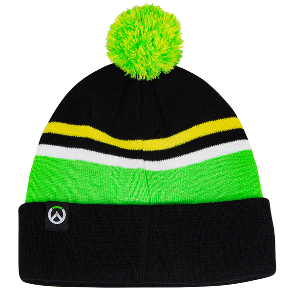 View 2 of Overwatch Lucio Pom Beanie photo. alternate photo.