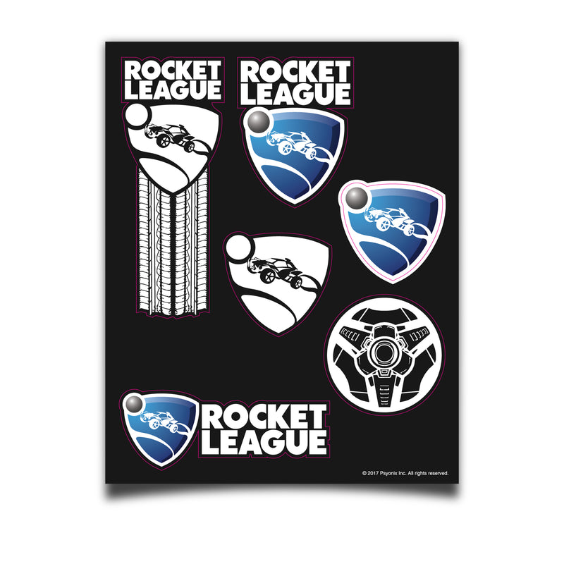 View 1 of Rocket League Brand Sticker Sheet photo.