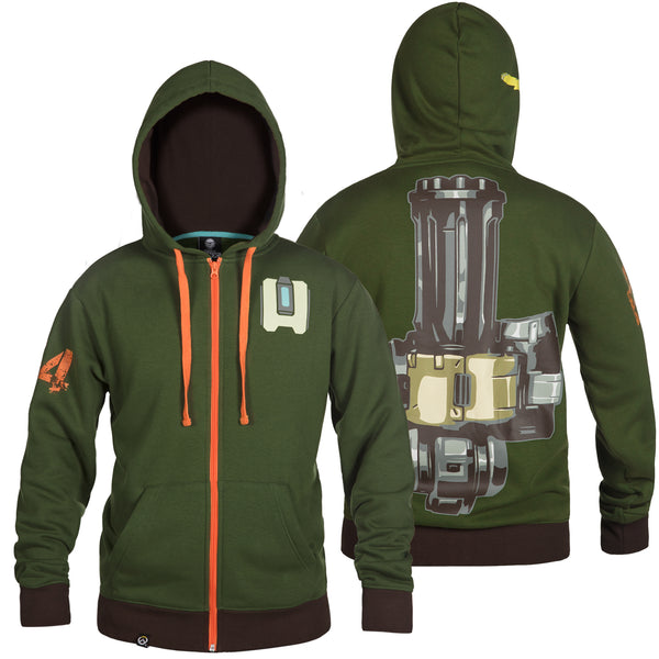 View 1 of Overwatch Ultimate Bastion Zip-Up Hoodie photo. primary photo.