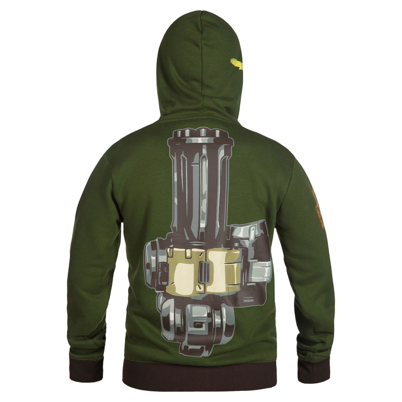 View 3 of Overwatch Ultimate Bastion Zip-Up Hoodie photo.