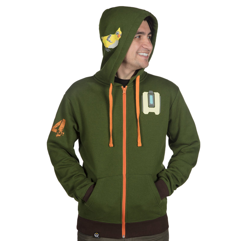 View 4 of Overwatch Ultimate Bastion Zip-Up Hoodie photo.