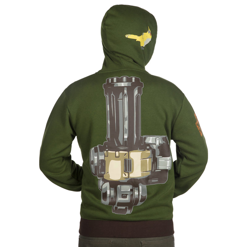View 5 of Overwatch Ultimate Bastion Zip-Up Hoodie photo.