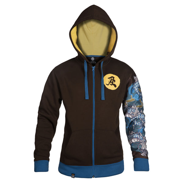 View 1 of Overwatch Ultimate Hanzo Zip-Up Hoodie photo. primary photo.