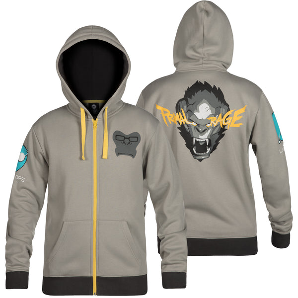 View 1 of Overwatch Ultimate Winston Zip-Up Hoodie photo. primary photo.