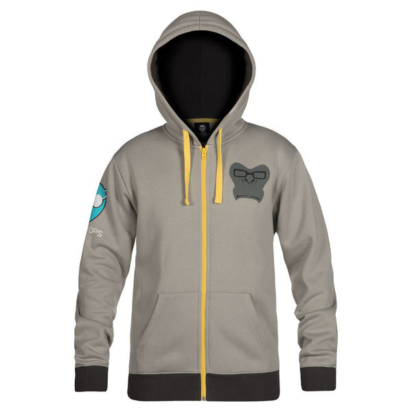 View 2 of Overwatch Ultimate Winston Zip-Up Hoodie photo. alternate photo.