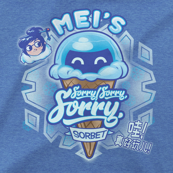 View 2 of Overwatch Mei's Sorry Sorbet Women's Tee photo. alternate photo.