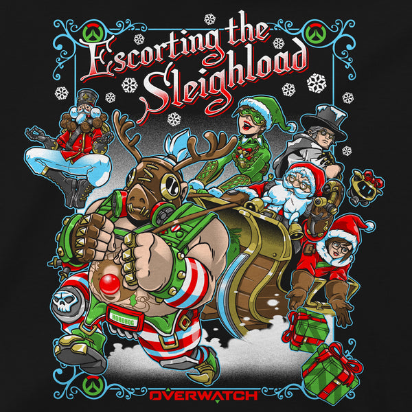 View 2 of Overwatch Sleigh Ride Premium Tee photo. alternate photo.