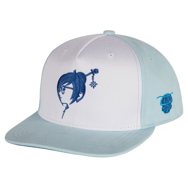 View 1 of Overwatch Arctic Mei Snap Back Hat photo. primary photo.