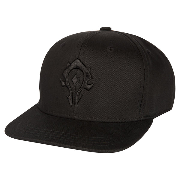View 1 of World of Warcraft Blackout Horde Snap Back Hat photo. primary photo.