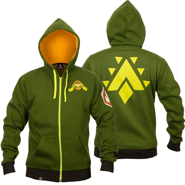 View 1 of Overwatch Ultimate Orisa Zip-Up Hoodie photo. primary photo.