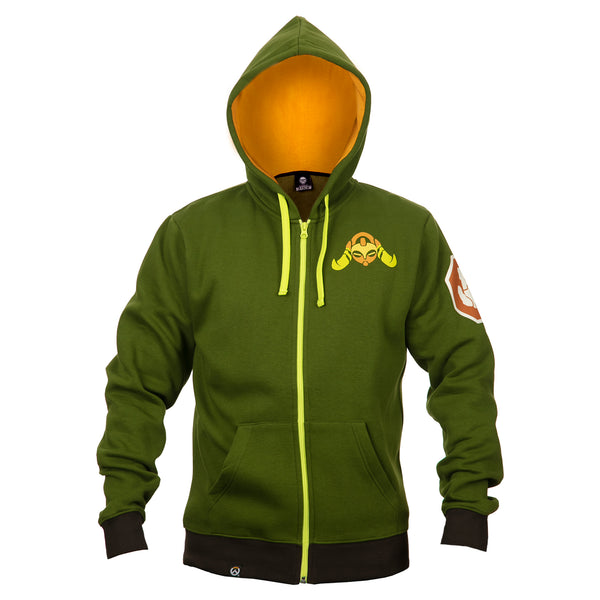 View 2 of Overwatch Ultimate Orisa Zip-Up Hoodie photo. alternate photo.