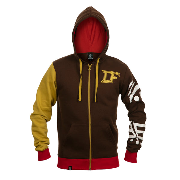 View 2 of Overwatch Ultimate Doomfist Zip-Up Hoodie photo. alternate photo.