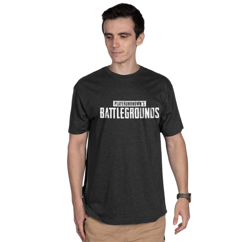 View 1 of PUBG White Logo Premium Tee photo.