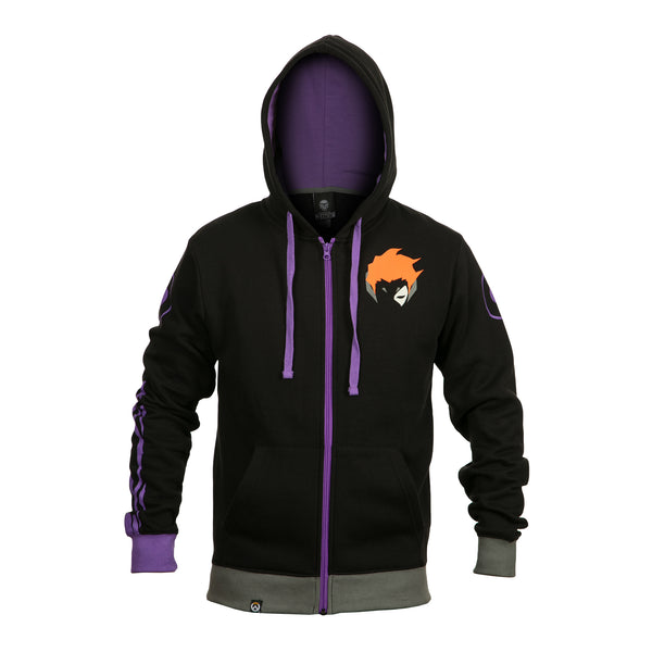 View 1 of Overwatch Ultimate Moira Zip-Up Hoodie photo. primary photo.