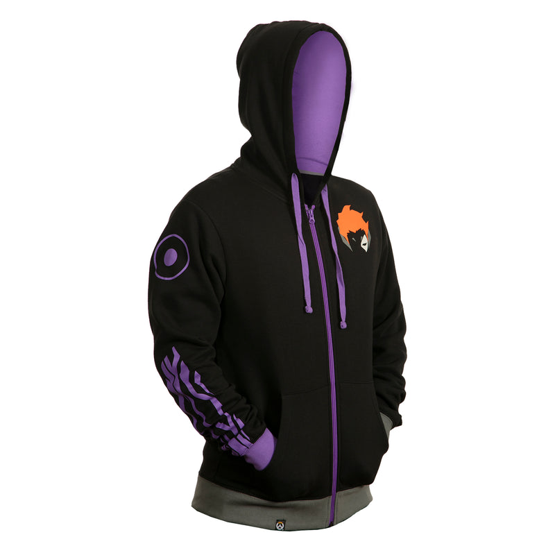View 3 of Overwatch Ultimate Moira Zip-Up Hoodie photo.