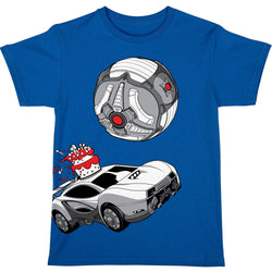 View 1 of Rocket League Masamune Cake Topper Youth Tee photo.