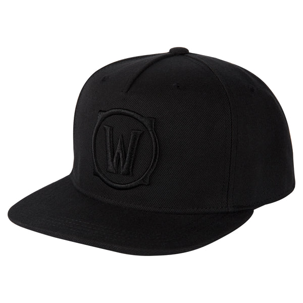 View 1 of World of Warcraft Blackout Logo Snap Back Hat photo. primary photo.