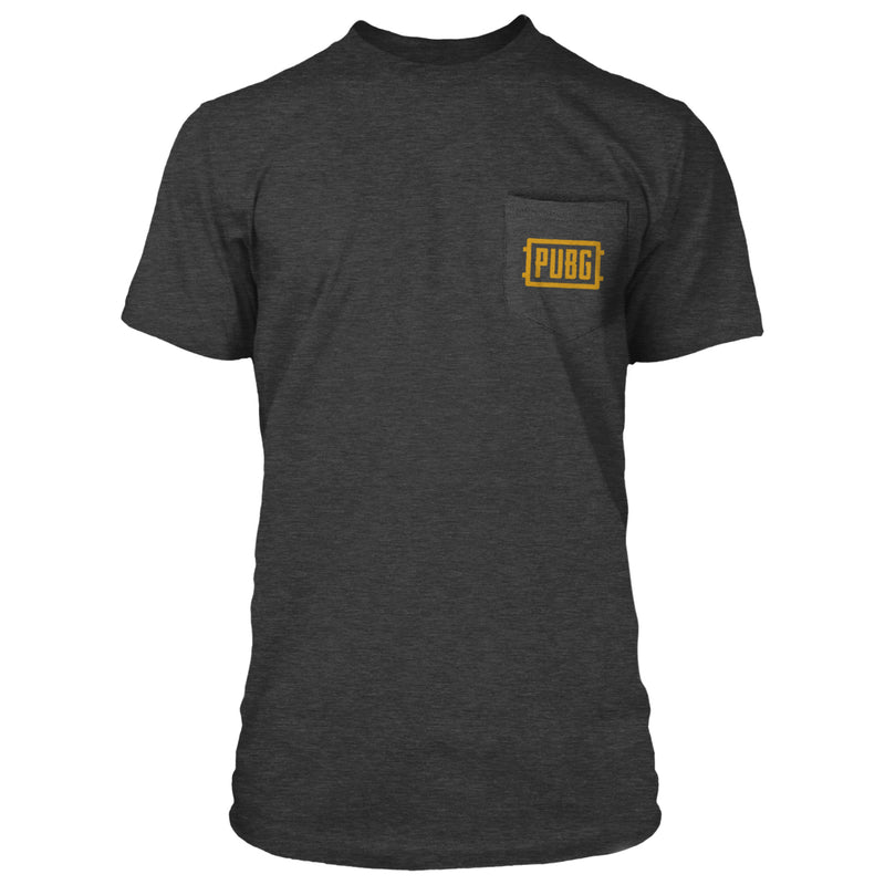 View 3 of PUBG Orange Logo Pocket Tee photo.