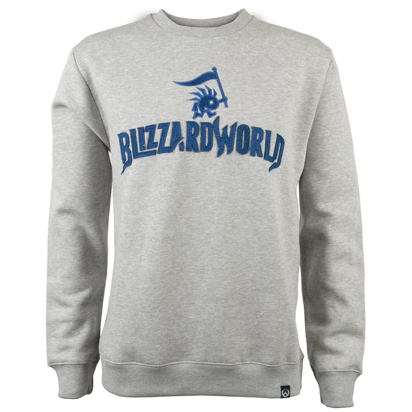View 1 of Overwatch Blizzard World Pullover Sweater photo. primary photo.