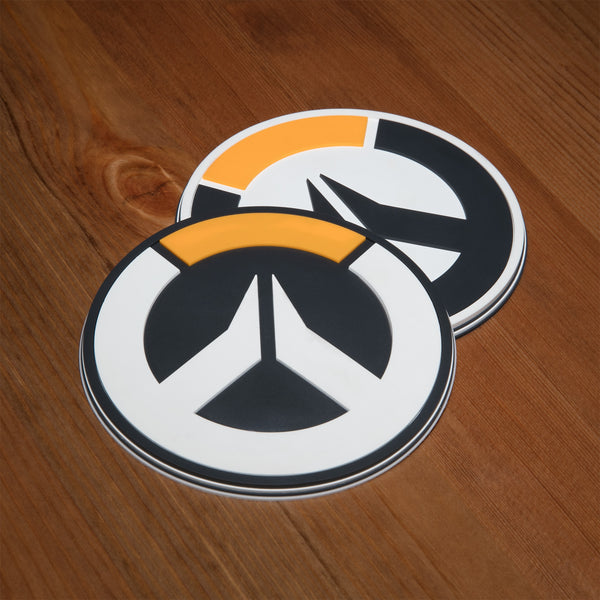 View 1 of Overwatch Logo Coaster (4 Pack) photo. primary photo.