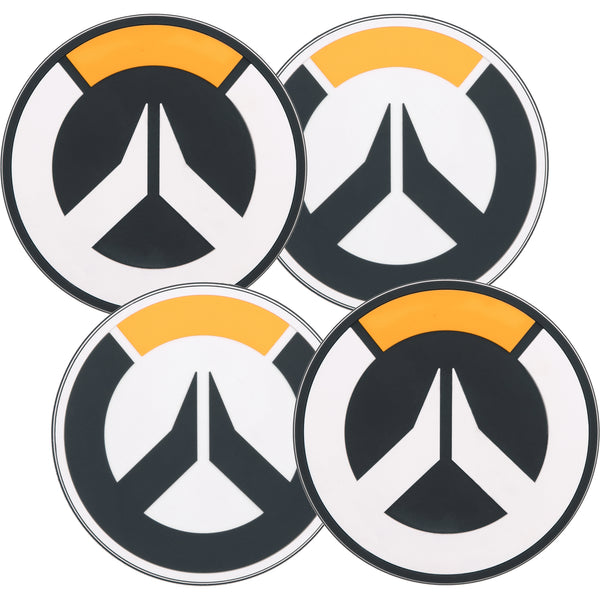 View 2 of Overwatch Logo Coaster (4 Pack) photo. alternate photo.