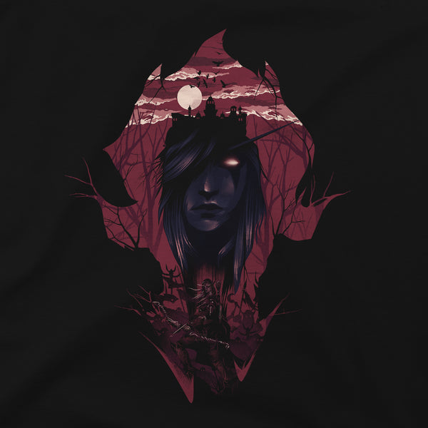 View 2 of World of Warcraft Dark Lady Premium Tee photo. alternate photo.
