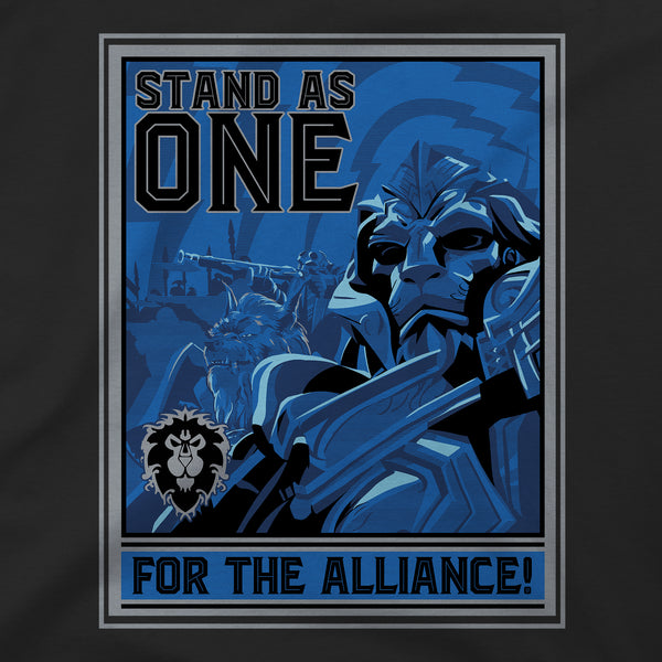 View 2 of World of Warcraft Alliance Warfront Premium Tee photo. alternate photo.