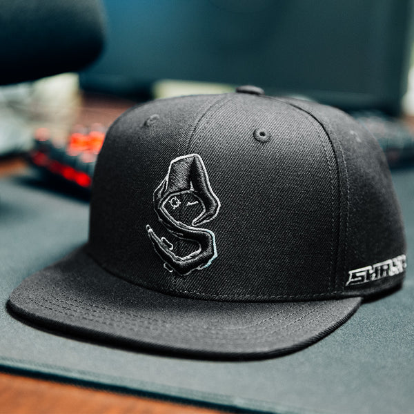 View 1 of Shroud Blackout Logo Snap Back Hat photo. primary photo.