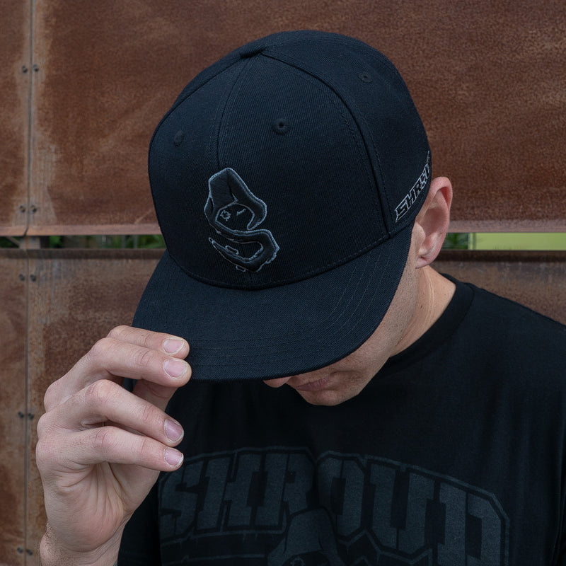 View 3 of Shroud Blackout Logo Snap Back Hat photo.