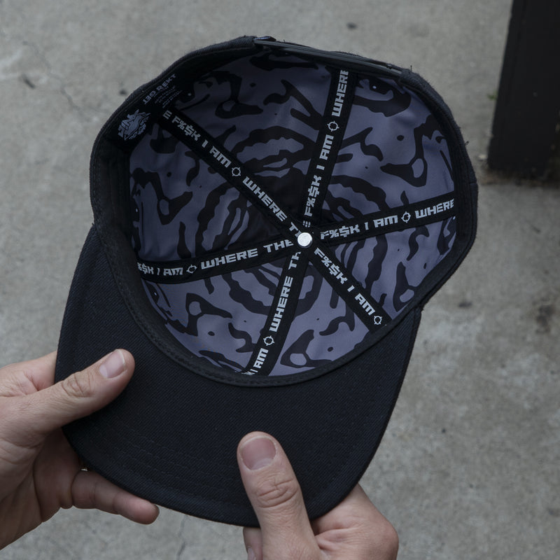 View 4 of Shroud Blackout Logo Snap Back Hat photo.