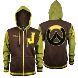 View 1 of Overwatch Varsity Junkrat Zip-Up Hoodie photo.