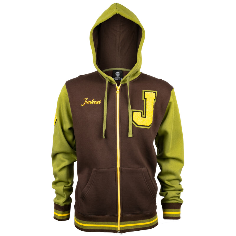 View 2 of Overwatch Varsity Junkrat Zip-Up Hoodie photo.