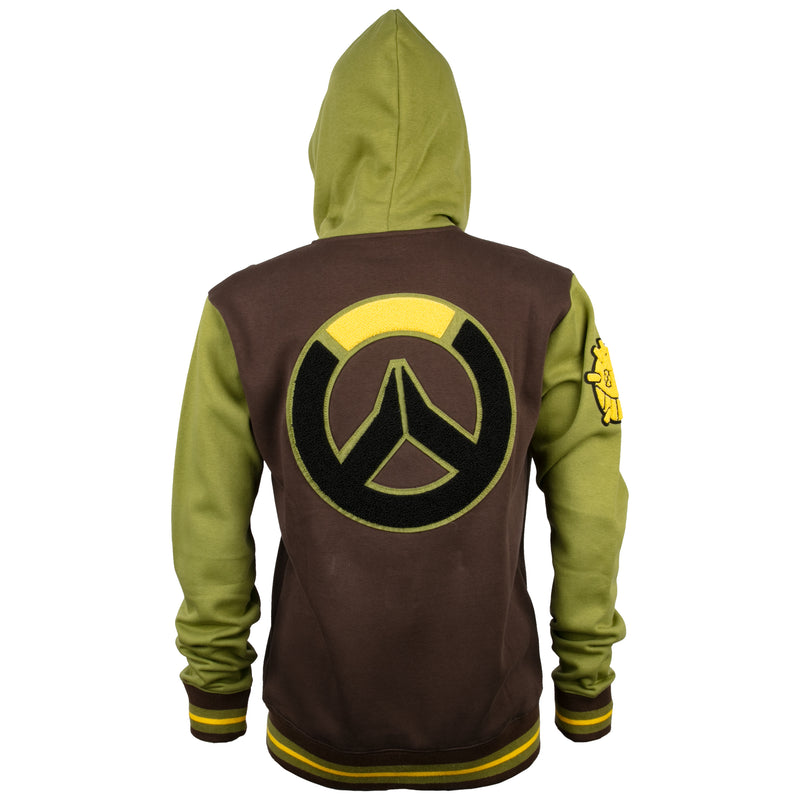 View 3 of Overwatch Varsity Junkrat Zip-Up Hoodie photo.