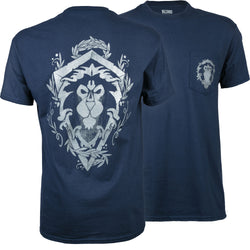 View 1 of World of Warcraft Alliance Lion Crest Pocket Tee photo.