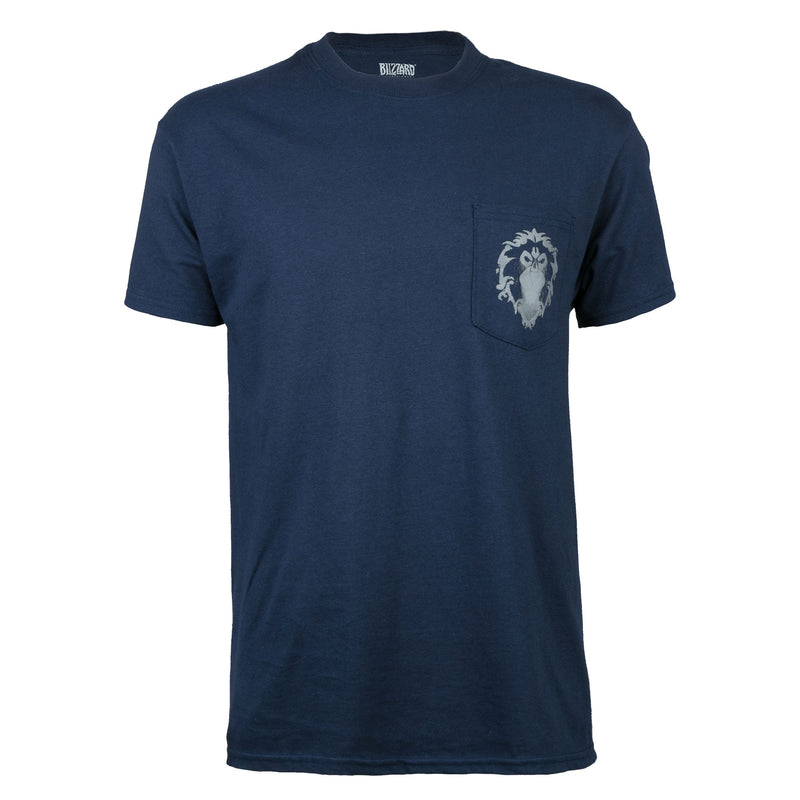 View 3 of World of Warcraft Alliance Lion Crest Pocket Tee photo.