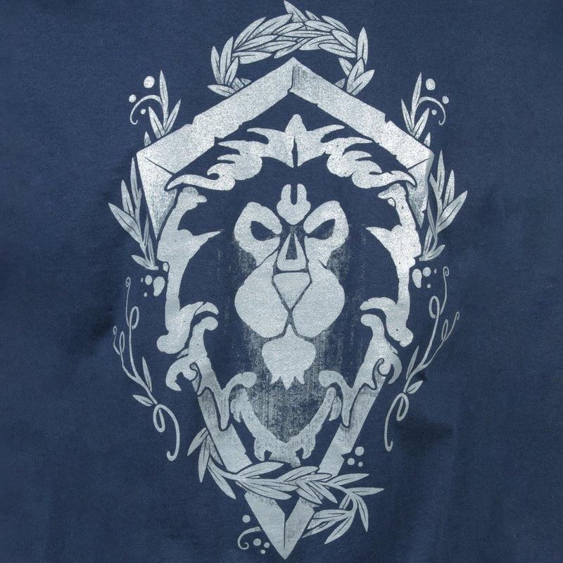 View 4 of World of Warcraft Alliance Lion Crest Pocket Tee photo.