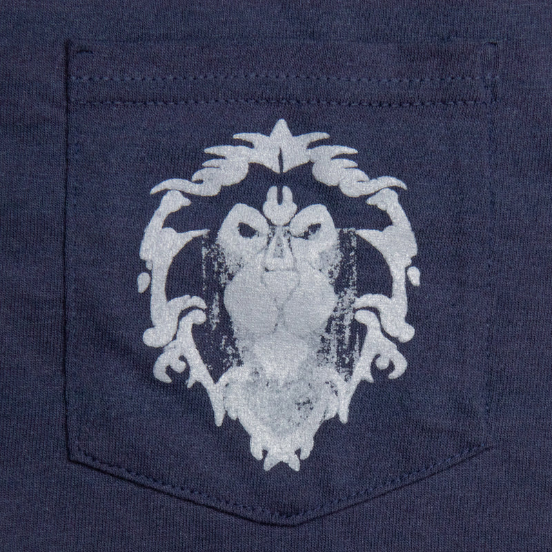 View 5 of World of Warcraft Alliance Lion Crest Pocket Tee photo.