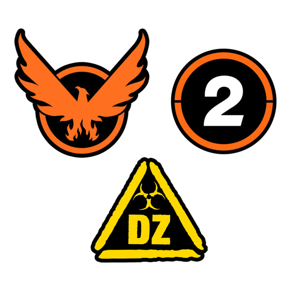 View 1 of The Division 2 Starter Pack Enamel Pin Set photo. primary photo.