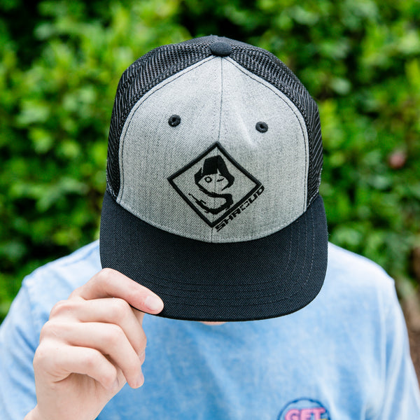 View 1 of Shroud Lockup Trucker Snap Back Hat photo. primary photo.
