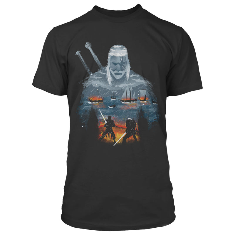 View 1 of The Witcher 3 Geralt and Eredin Premium Tee photo.