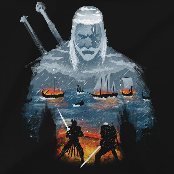 View 2 of The Witcher 3 Geralt and Eredin Premium Tee photo. alternate photo.