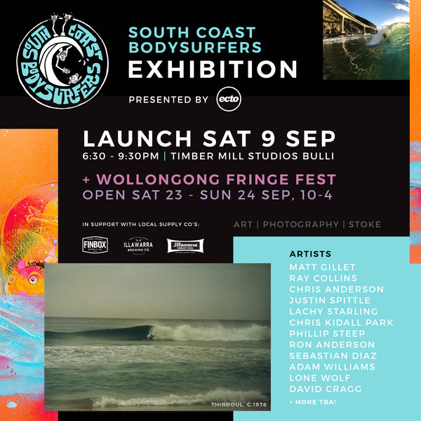 THE SOUTH COAST BODYSURFERS EXHIBITION PRESENTED BY ECTO HANDPLANES