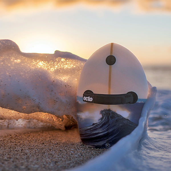 "Ecto Bodysurfing Handplanes - Glass 11"" Ray Collins 'Sunburst' Limited Edition"