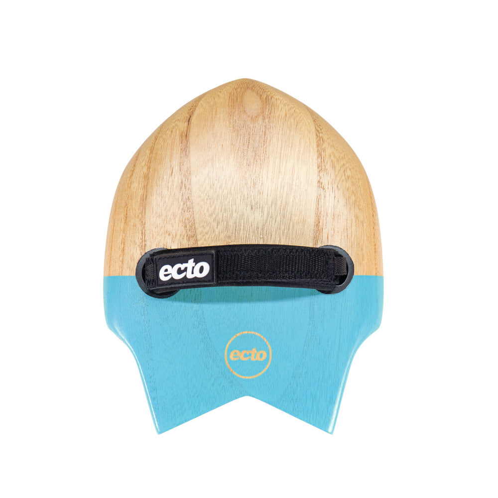 "Ecto Bodysurfing Handplane - FLY Fish Wood 9"" (Chill Blue) - FREE SHIPPING (AUS)"