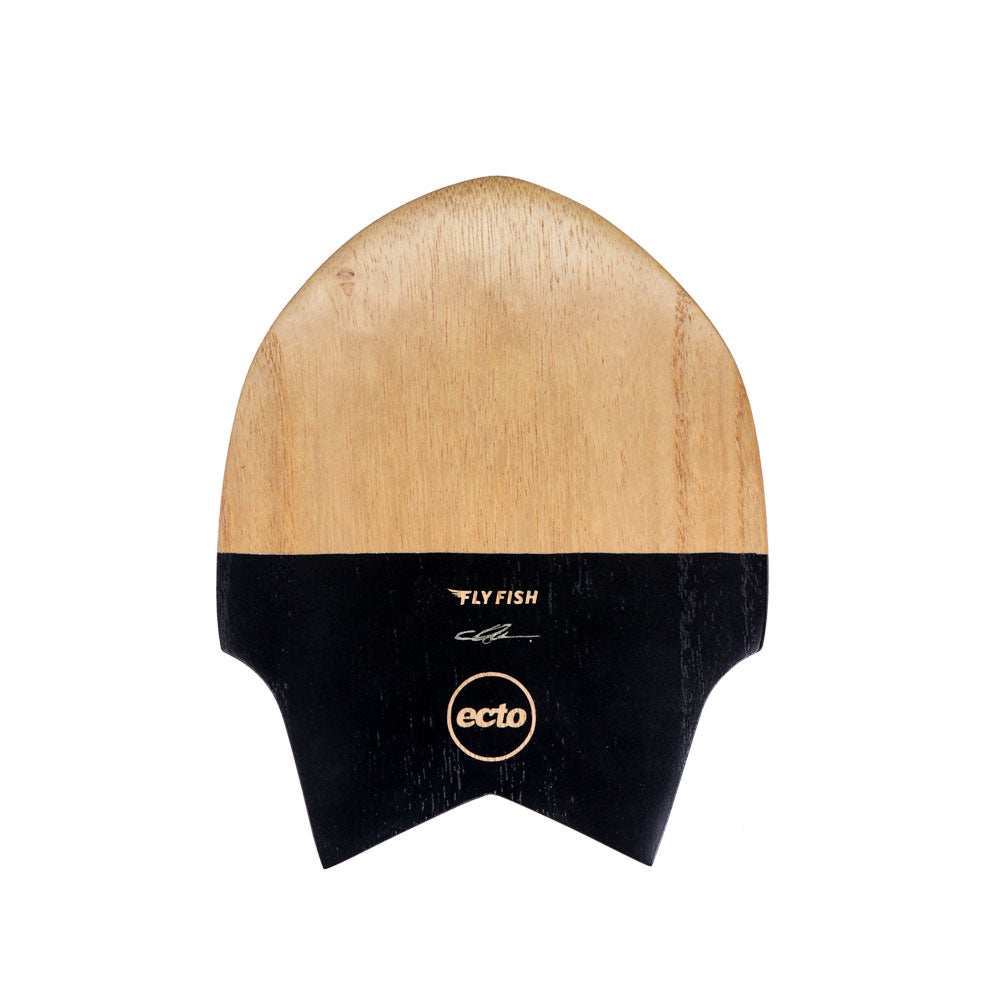 "Ecto Bodysurfing Handplane - FLY Fish Wood 9"" (Black) - FREE SHIPPING (AUS)"