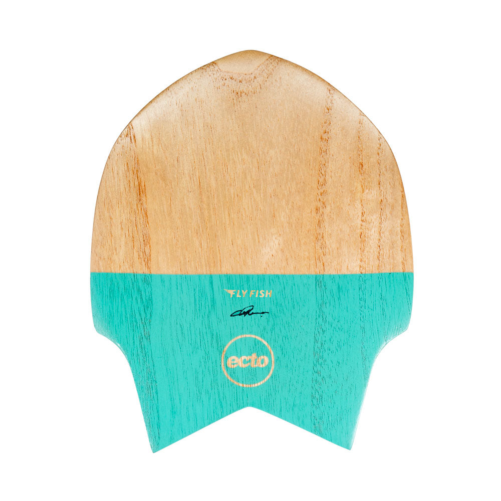 "Ecto Bodysurfing Handplane - FLY Fish Wood 9"" (Turquoise Green) - FREE SHIPPING (AUS)"