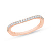 Rose Gold diamond Curved Band