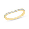 Yellow Gold Diamond curved Band