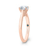 Rose Gold Solitaire Round Engagement Ring